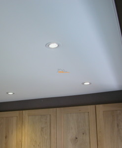 Spanplafond inbouwspot wit
